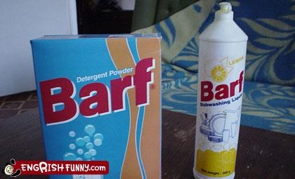 clean your laundry in barf