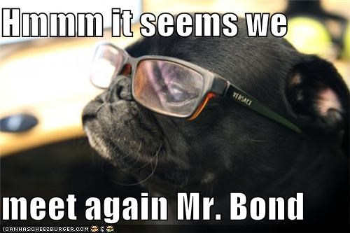glasses,james bond,Nemesis,pug,revenge,villain