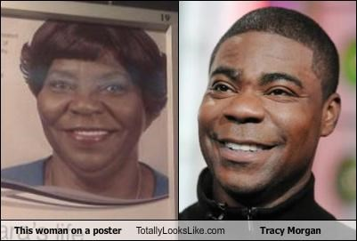 This woman on a poster Totally Looks Like Tracy Morgan
