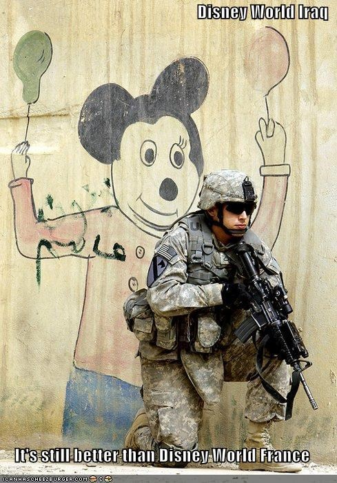 Disney World Iraq  It's still better than Disney World France