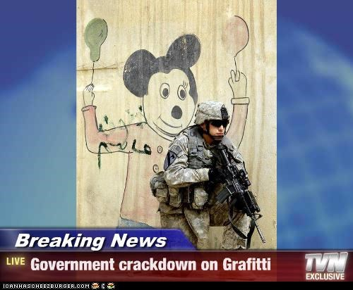 Breaking News - Government crackdown on Grafitti