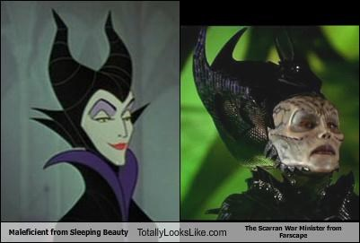Maleficient from Sleeping Beauty Totally Looks Like The Scarran War Minister from Farscape