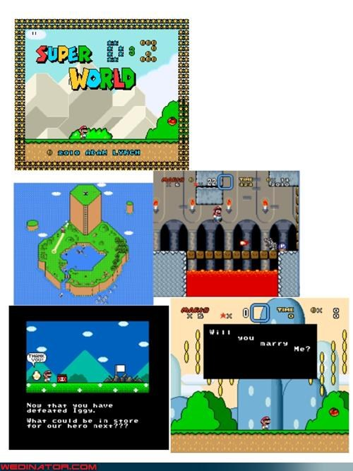 engagement,funny marriage proposal,funny wedding photos,groom,hacker,super-mario-bros-marriage-proposal,super mario engagement,super mario world proposal,surprise,technical difficulties,themed proposal,were-in-love,Wedding Themes