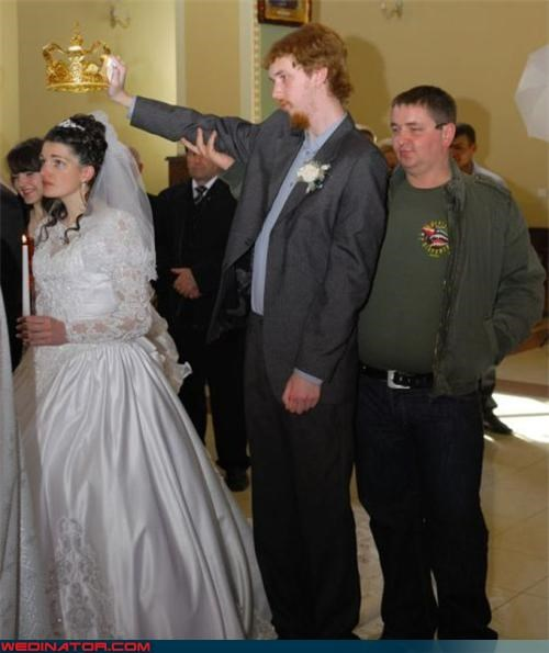 bride,confusing,crown,drunk guy,drunk wedding,fashion is my passion,funny wedding photos,miscellaneous-oops,personal crown holder,technical difficulties,wasted,wedding party,wtf,wtf is this