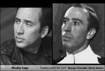 Nicolas Cage Totally Looks Like George Chandler (Early Actor)