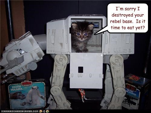 I'm sorry I destroyed your rebel base.  Is it time to eat yet?