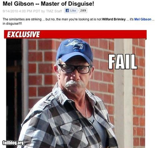 celeb,disguise,failboat,g rated,master of nothing,mel gibson