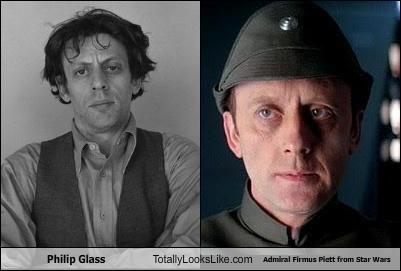 Philip Glass  Totally Looks Like Admiral Firmus Piett from Star Wars