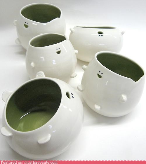 Cute Porcelain Containers Are Happy to Hold Anything