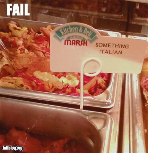 failboat,food,g rated,identification,italian,vague