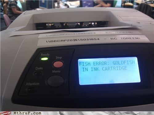 goldfish,ink,printer