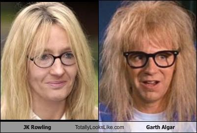 JK Rowling Totally Looks Like Garth Algar