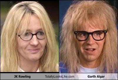 JK Rowling Totally Looks Like Garth Algar