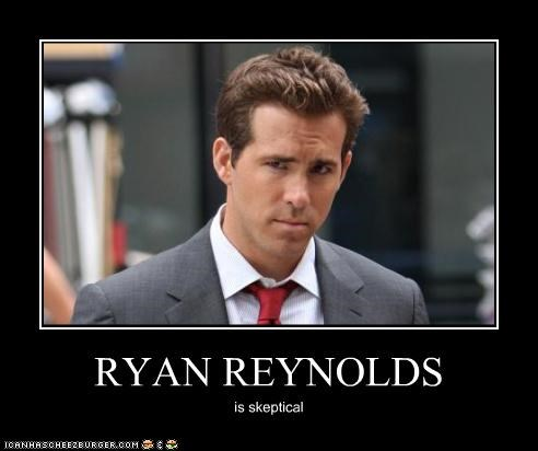 celebrity-pictures-ryan-reynolds-skeptical,comic books,Green lantern,movies,ROFlash,ryan reynolds,silence of the lambs