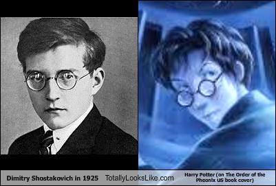 Dimitry Shostakovich in 1925 Totally Looks Like Harry Potter (on The Order of the Pheonix US book cover)