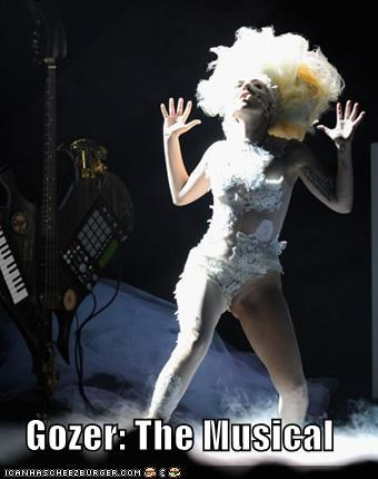 costume,ghost busters,gozer,Hall of Fame,lady gaga,musicals,musicians