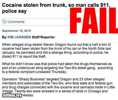 Drug dealer FAIL