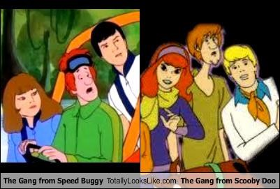 The Gang from Speed Buggy Totally Looks Like The Gang from Scooby Doo