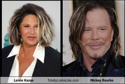 Lainie Kazan Totally Looks Like Mickey Rourke