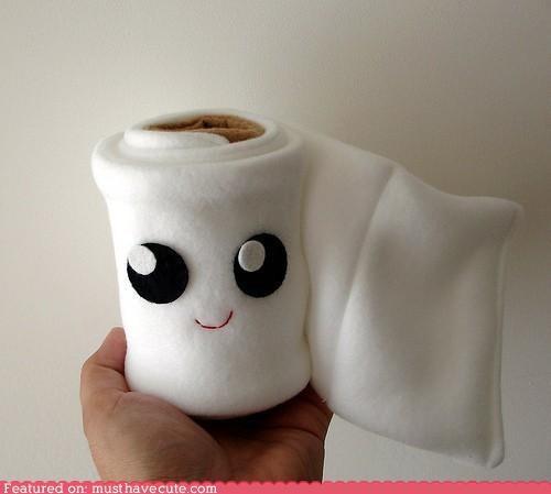 bathroom,cute-kawaii-stuff,face,figurine,Fluffy,friend,Plush,soft,TP