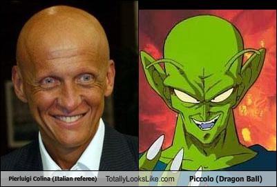 Pierluigi Colina (Italian referee) Totally Looks Like Piccolo (Dragon Ball)