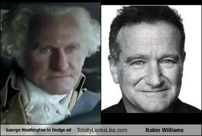 George Washington in Dodge ad Totally Looks Like Robin Williams