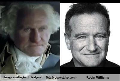 dodge ad,george washington,robin williams