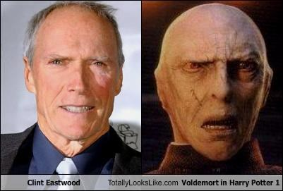 Clint Eastwood Totally Looks Like Voldemort in Harry Potter 1