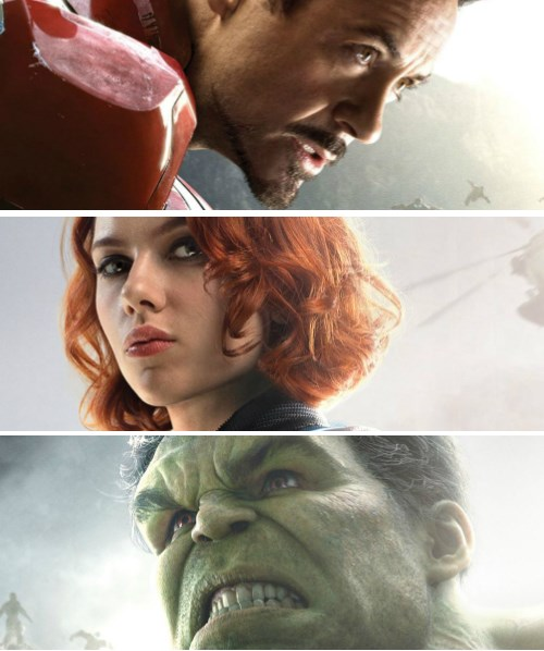 """Get a Closer Look at Marvel's """"Avengers: Age of Ultron"""" Character Posters [Vision Update]"""