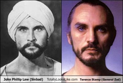 John Phillip Law (Sinbad) Totally Looks Like Terence Stamp (General Zod)