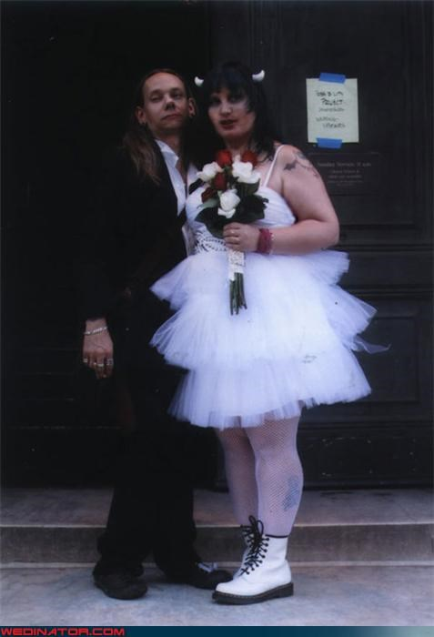 confusing,Crazy Brides,crazy groom,devil bride,docs,eww,fashion is my passion,funny weddin photos,goth bride,is-the-bride-a-man,scary bride,scary wedding pictures,tacky bride,Wedding Themes,wtf