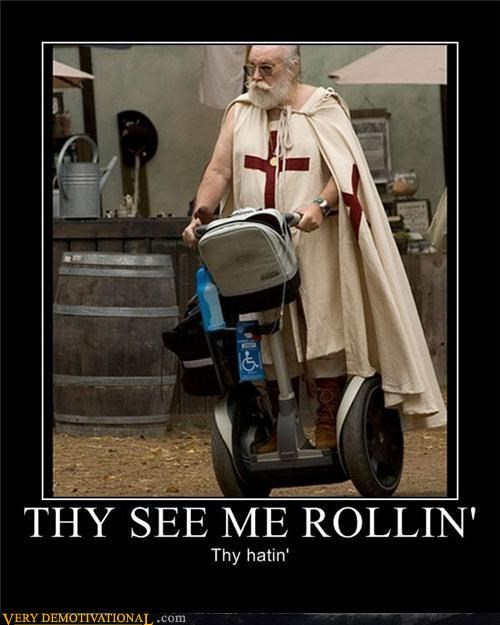 chamillionaire,cleric,handicapped,hilarious,motivated photos,segway,they see me rolling,ye old english