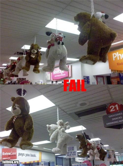 Stuffed Animal Display Fail