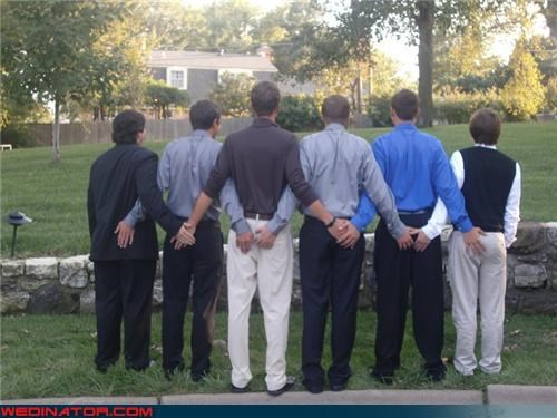 The Groomsmen are a Tight Bunch