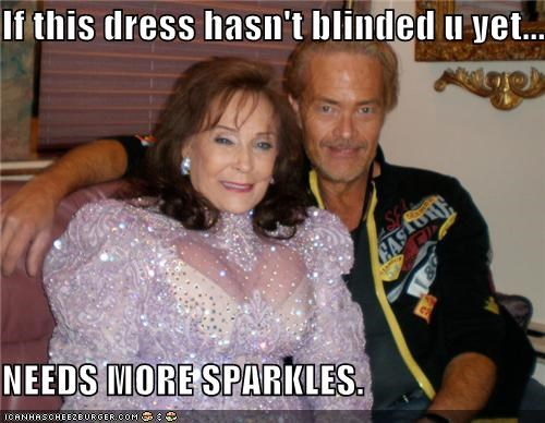 country,dress,fashion,lolz,loretta lynn,singer,Sparkle