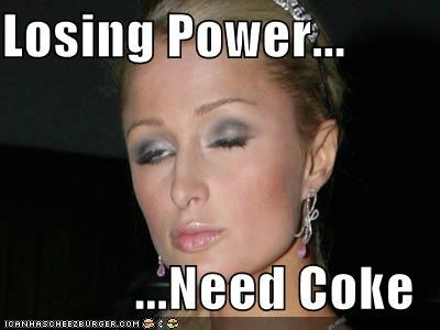 Losing Power...  ...Need Coke