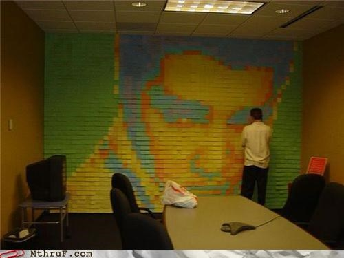 art,awesome,Elvis,meeting,post its