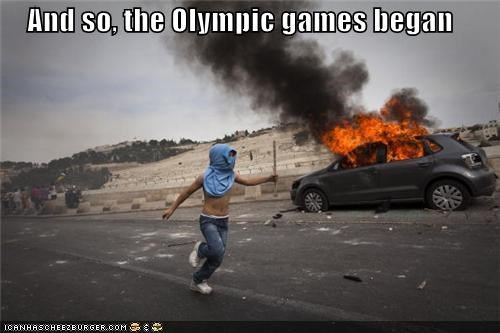 And so, the Olympic games began