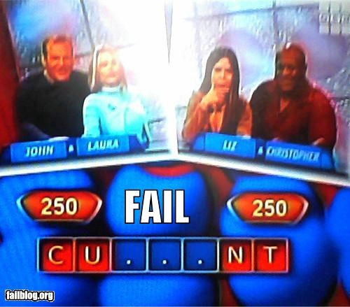 Game Show FAIL