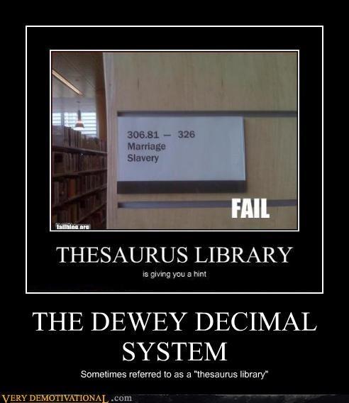 library,thesaurus,dewey decimal system,funny