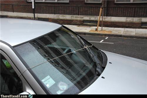 car,driving,Kludge,manual labor,windshield wiper