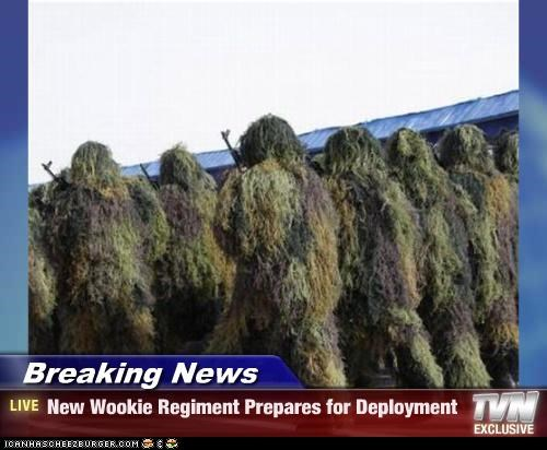 Breaking News - New Wookie Regiment Prepares for Deployment