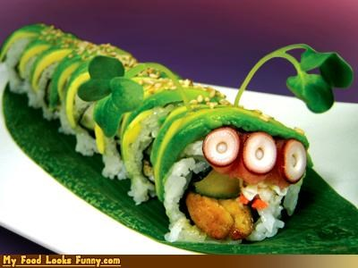 avocado roll,blinky,caterpillar,fish,monty burns,mr burns,octopus,protein,simpsons,sushi