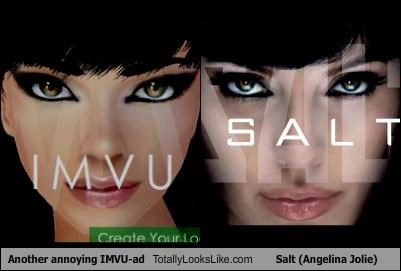 Another annoying IMVU-ad Totally Looks Like Salt (Angelina Jolie)