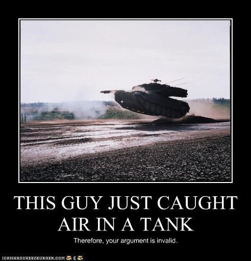 THIS GUY JUST CAUGHT AIR IN A TANK