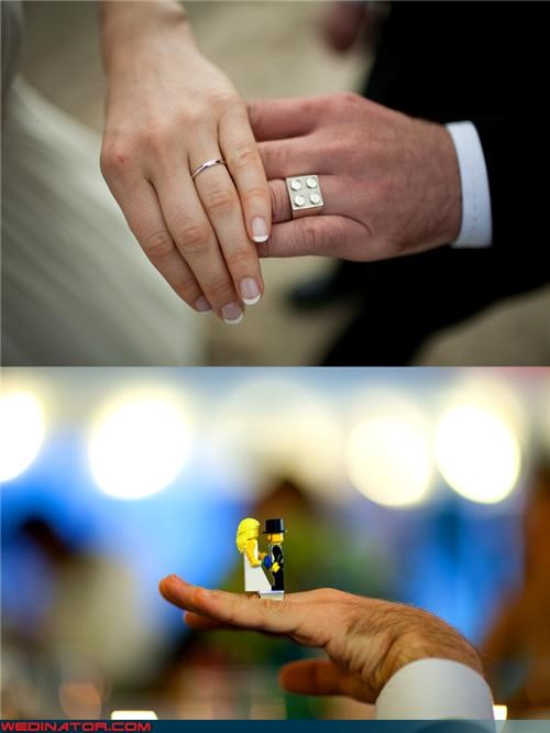 Bling,bride,coolest wedding ring,custom Lego wedding ring,fashion is my passion,funny wedding photos,funny wedding ring,groom,lego,lego wedding ring,surprise,were-in-love,Wedding Themes