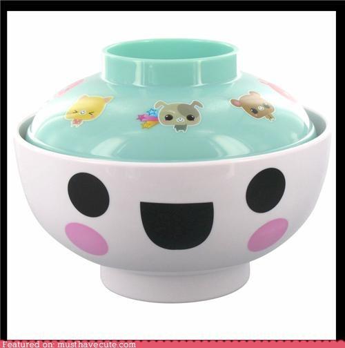 bowl,cute-kawaii-stuff,dishes,face,happy,Kitchen Gadget,ramen,soup