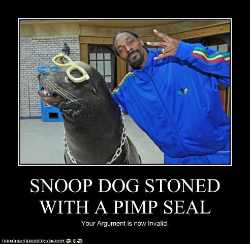 SNOOP DOG STONED WITH A PIMP SEAL