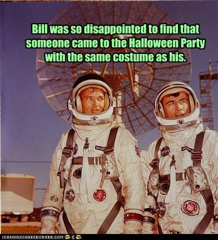 Bill was so disappointed to find that someone came to the Halloween Party with the same costume as his.