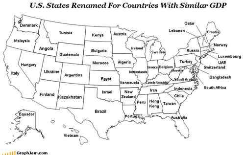 Nerdgasm: States Renamed By GDP